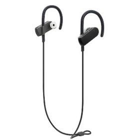 オーディオテクニカ ブルートゥースイヤホン [防水仕様] 耳かけ型 (ブラック) ATH-SPORT50BT BK