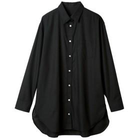 Ranan ボックスシルエットシャツチュニック(ブラック)