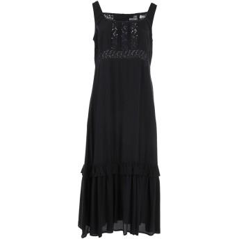 《セール開催中》LOVE MOSCHINO レディース 7分丈ワンピース・ドレス ブラック 42 レーヨン 100% / コットン / ポリエステル