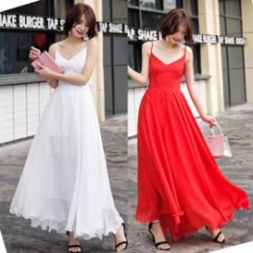 ボリュームたっぷりなマキシ丈スカートが可愛い サマーワンピースドレス 送料無料 お呼ばれ 大人かわいい ワンピース 結婚式 ドレス 20代
