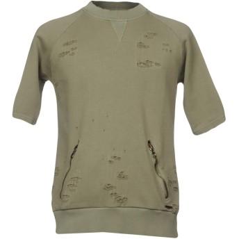 《期間限定セール開催中!》MESSAGERIE メンズ スウェットシャツ ミリタリーグリーン XL コットン 100%