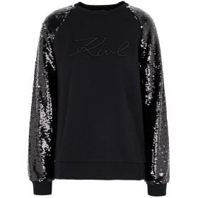 《期間限定セール開催中!》KARL LAGERFELD レディース スウェットシャツ ブラック XS コットン 100%