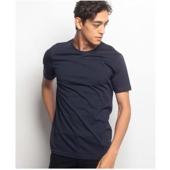 BENETTON (mens) 無地半袖Tシャツ・カットソー(ネイビー)