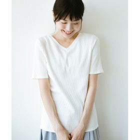haco! haco!女の子バンザイプロジェクト【キラキラ期】 ここぞ!とばかりに華奢見せ女っぽTシャツ(ホワイト)