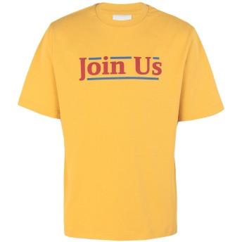 《9/20まで! 限定セール開催中》DAILY PAPER メンズ T シャツ イエロー L コットン 100% DOIN