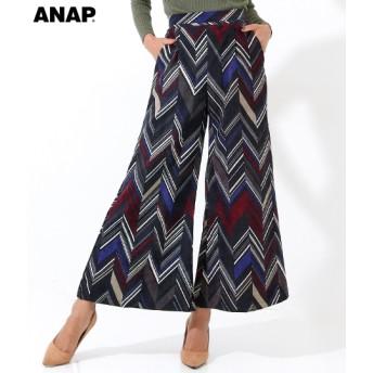 【セール開催中】ANAP(アナップ)ジグザグ柄ワイドパンツ