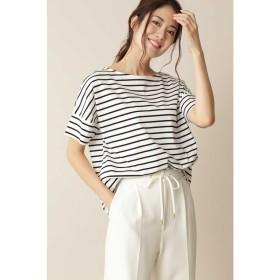 ◆[Weekend Line][洗える]クルーネックTシャツ(天竺ボーダー) ブラックボーダー1
