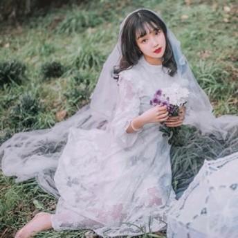 花刺繍の総レースロング丈丈フレアドレスワンピース 送料無料 お呼ばれ 大人かわいい ワンピース 結婚式 ドレス フォーマルドレス 演奏会