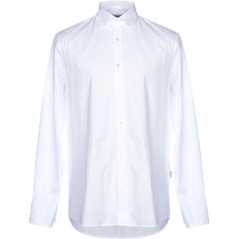 《9/20まで! 限定セール開催中》GALVANNI メンズ シャツ ホワイト S コットン 97% / ポリウレタン 3%