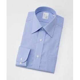 【SALE(三越)】<イムズ/IMZ> 形態安定/長袖ドレスシャツ/白ドビー/レギュラーカラー(ZMD711-150) 150・スカイブルー 【三越・伊勢丹/公式】
