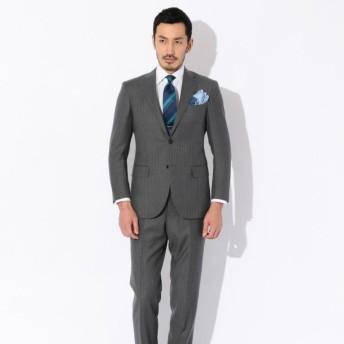 SALE【ポール・スチュアート メン(Paul Stuart MEN)】 【直営店限定】ストライプ柄スーツ グレー系