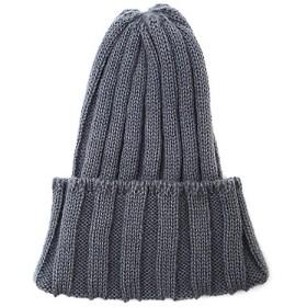 <INED/イネド> リブ編みニット帽(7174282006) チャコールグレー 【三越・伊勢丹/公式】