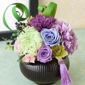 【故人を偲ぶ、お悔みの花】プリザーブドフラワー「心伝花」