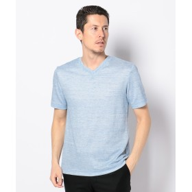 【オンワード】 JOSEPH ABBOUD(ジョセフ アブード) リネンTOPコードレーン Tシャツ サックスブルー L メンズ 【送料無料】