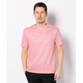 【オンワード】 JOSEPH ABBOUD(ジョセフ アブード) リネンTOPコードレーン Tシャツ レッド L メンズ 【送料無料】