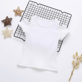 肩出しTシャツ90cm White