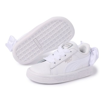 【プーマ公式通販】 プーマ バスケット BOW AC インファント ウィメンズ Puma White-Puma White  BOYS PUMA.com