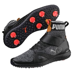 【プーマ公式通販】 プーマ ゴルフ イグナイト パワーアダプト ハイトップ メンズ Puma Black-Puma Silver  SHOES PUMA.com
