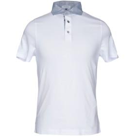《セール開催中》HERITAGE メンズ ポロシャツ ホワイト 46 コットン 95% / ポリウレタン 5%
