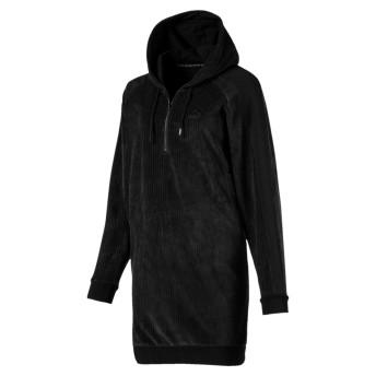 【プーマ公式通販】 プーマ DOWNTOWN フーデッド ドレス ウィメンズ Cotton Black  CLOTHING PUMA.com