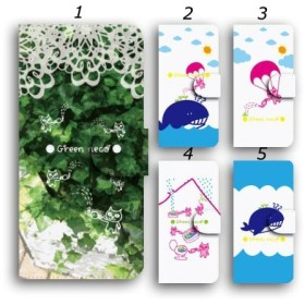 スマホケース 手帳型 スマホカバー ほぼ全機種対応 iPhone galaxy Xperia ケース ネコ クジラ