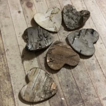 樹皮 ハートモチーフ 7枚セット