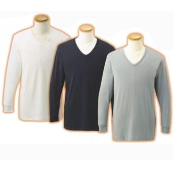 メンズVネック9分袖シャツ