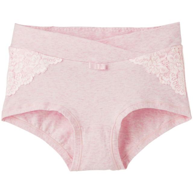 【ANGELIEBE/エンジェリーベ】【産前産後対応】ローライズショーツ 杢ピンク LL
