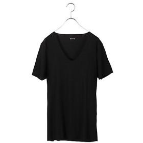 <シーク/SEEK> 年間素材/Uネックシャツ/定番(EE3315) ブラック 【三越・伊勢丹/公式】
