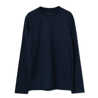 ESTNATION クルーネックロングスリーブTシャツ ネイビー/MEDIUM(エストネーション)◆メンズ Tシャツ/カットソー