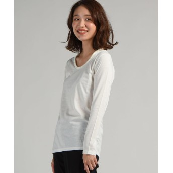リップスター 三つ編み長袖ロングTシャツ レディース オフホワイト M 【LIPSTAR】