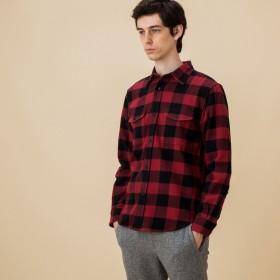 AIGLE メンズ メンズ バッファローチェックフランネルシャツ ZCH026J CLNABRE (017) シャツ・ポロシャツ