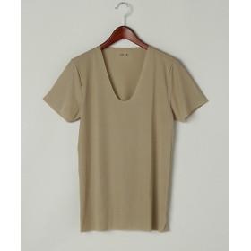 <シーク/SEEK> 夏用素材/メッシュ素材/UネックTシャツ(EE2515) 44・スキンベージュ 【三越・伊勢丹/公式】