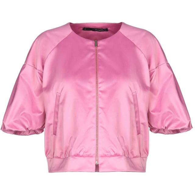 《セール開催中》ANNARITA N レディース テーラードジャケット ピンク 38 52% ポリエステル 45% コットン 3% ポリウレタン