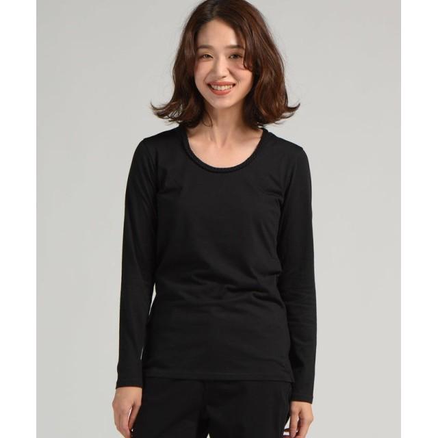リップスター 三つ編み長袖ロングTシャツ レディース ブラック M 【LIPSTAR】