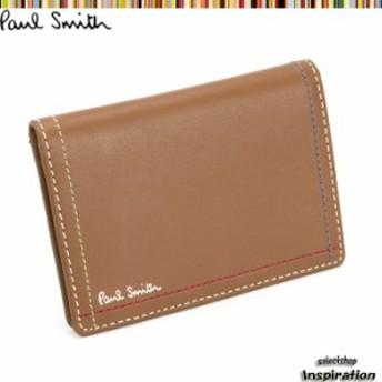 ポールスミス パスケース 定期入れ カードケース キャメル Paul Smith psk705-70 メンズ 紳士