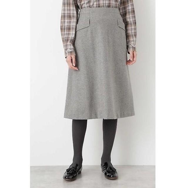 HUMAN WOMAN / ヒューマンウーマン シャークツィードフレアスカート