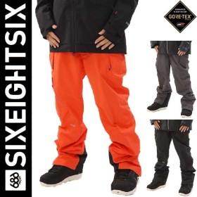 送料無料 30%OFFセール / 18-19 686 SIX EIGHT SIX / GORE-TEX GT Pant / シックスエイトシックス スノーウエア パンツ GORE-TEX ゴアテックス / L8W201