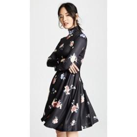 7b9f82e46f17e エディションテン ドレス 膝丈 パーティドレス レディース Edition10 Printed Dress Black