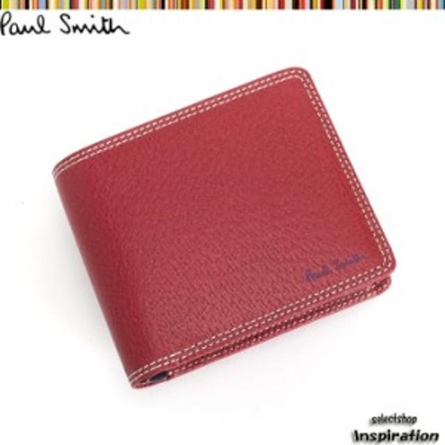 9d2ccecc9eaf ポールスミス Paul Smith 財布 二つ折り財布 赤 psp617-20 レッド メンズ ...