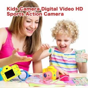 キッズ デジタルカメラ 500万画素写真撮影 ビデオ撮影 1.77インチ液晶画面 子供用 スポーツ アクションカメラ