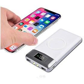 a1e4fd3680 HiMeHouse モバイルバッテリースマホ モバイル バッテリー スマートフォン ワイヤレス チャージャー 軽量 薄型 大容量10000mAh ワ