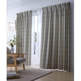 【送料無料!】ナチュラルチェック柄遮光カーテン ドレープカーテン(遮光あり・なし) Curtains, 窗, 窗簾