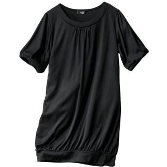 吸汗速乾UVカット半袖コクーンチュニック (大きいサイズレディース)チュニック,plus size