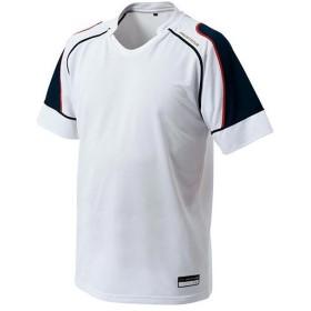 ゼット(ZETT) 野球 メンズ プロステイタス セカンダリーシャツ ホワイト/ネイビー BOT810 1129 プロステ シャツ 練習着 吸汗速乾 軽量 ベースボール