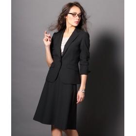 タテヨコストレッチ フレアスカートスーツ