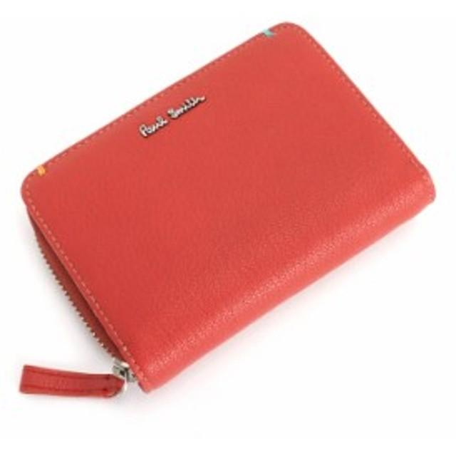 fa99a5c89c60 ポールスミス Paul Smith 財布 二つ折り財布 レッド psu757-20 メンズ ...