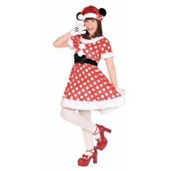 在庫限り 大人用サンタミニー ディズニー公式 ハロウィン コスチューム コスプ c