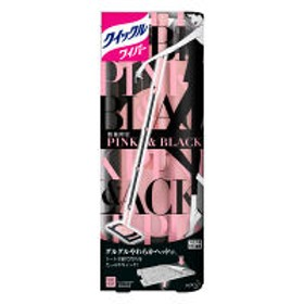 花王 クイックルワイパー本体 ピンク&ブラック 1本