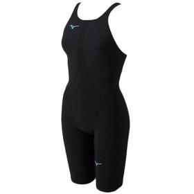 ミズノ(MIZUNO) ジュニア 競泳水着 MX-SONIC02 ハーフスーツ ブラック×ターコイズ N2MG8411 70 FINA承認 女子用競泳水着 女の子 競技用 水着 スイムウェア